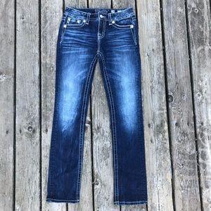 Miss Me size 28 straight dark denim jeans